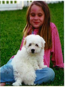laney with myalinda-as puppy